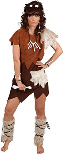 (Ladies Primitive Cavewoman Caveman Prehistoric Hen Do Night Party World Book Day Week Historical Fancy Dress Costume Outfit (UK 16-18 (EU)