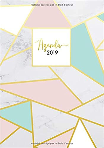 Agenda 2019: Semainier simple & graphique, motif rayures ...