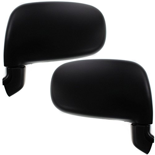 (Koolzap For 91-97 Previa Van Black Manual Folding Rear View Mirror Left Right SET PAIR)