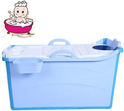 折りたたみバスタブ GYF 大人の折りたたみ浴槽プラスチックベビースイミングプール子供風呂バレル家庭用大型ポータブル浴槽 95x50x53cm子供用の大きなプール (Color : Blue)