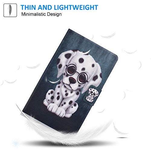 Galaxy Tab A 8.0 inch Case,T290 Case, Dteck Ultra Slim Lightweight Multiple Angle Stand Full-Body Protective Cover for Samsung Galaxy Tab A 8.0 2019 Release Model T290 T295 T297, Spot Dog