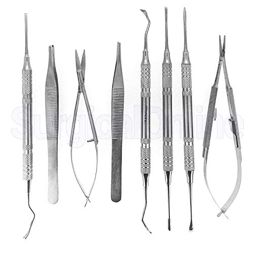 8 Micro Surgery Instruments Set Dental Medic Medical Implant Dentistry Supply