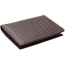 NOVICA Brown Handmade Artisan Leather Wallet, 'Brown Crocodile'