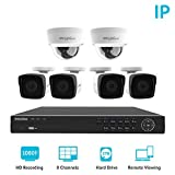 LaView 6 1080P IP Camera Security System 8 CH 1080P IP PoE NVR w/2TB HDD & 4 IP Bullet, 2 IP Dome 2MP Camera