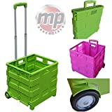 Motionperformance Essentials Heavy Duty 40kg Pack & Go Foldable Portable Shopping Camping Transport Trolley