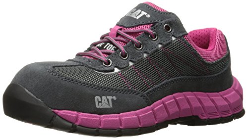 Caterpillar Women's Exact Steel Toe Work Shoe, Castlerock/Pink, 7.5 M US Womens Steel Toe Safety Shoes