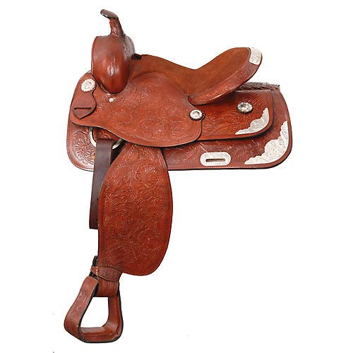 King Lancaster Western Show Saddle 15 Black