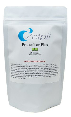 Zetpil Prostaflow Plus, 30 Suppositories, Supports Healthy Prostate, Highest Absorption Rate, No Degradation, Nutrients Bypass Stomach and Liver