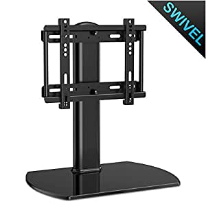 fitueyes universal tv stand base swivel tabletop tv stand with mount for up to 37. Black Bedroom Furniture Sets. Home Design Ideas
