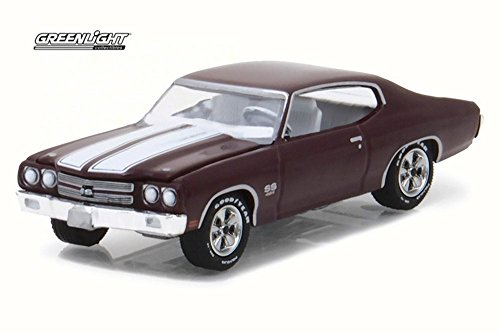 - Greenlight 1970 Chevrolet Chevelle SS 454, Black Cherry 13190C/48 - 1/64 Scale Diecast Model Toy Car
