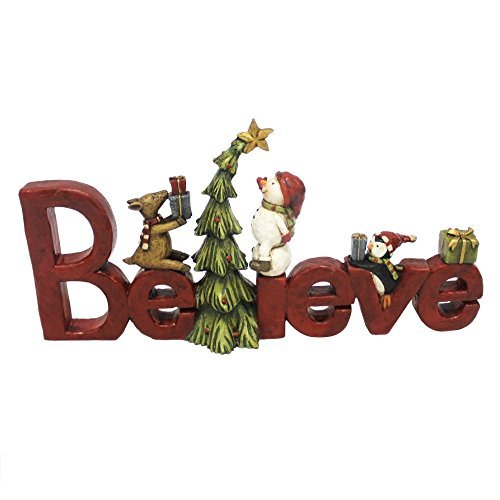 Cottage Vacation Rentals (Believe Tree Friendship 5 x 13 inch Resin Stone Christmas Table Top Decoration)