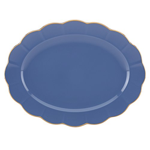 Marchesa Shades of Blue Oval Platter by Lenox