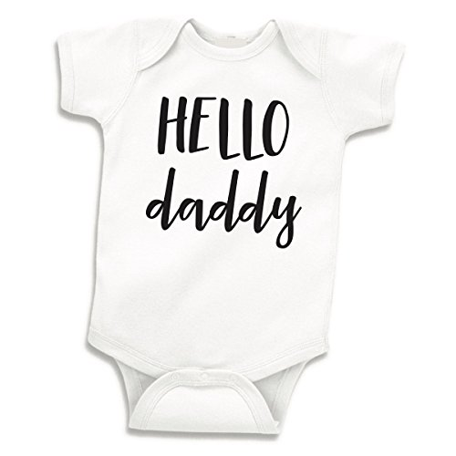 Surprise Pregnancy Announcement (Hello Daddy Surprise Pregnancy Announcement to Husband, Newborn Bodysuit (0-3 Months))