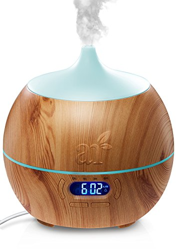 ArtNaturals Essential Oil Diffuser and Humidifier with Bluetooth Speaker Clock and Alarm – Electric Cool Mist Aromatherapy for Office/Home/Bedroom/Baby Room 7 Color LED Lights, 400 mL 41WTuWy8hlL