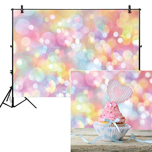 Allenjoy 7x5ft Colorful Bokeh Backdrop for Photography Polka