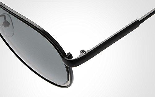 diseñador Gafas Pilot Espejo de polarizado de lan para de de Hombre Retro Gafas Sol Gray Black Shuo Gafas Sol Sunglass Color Marca New Hombres Espejo Nuevas de Gafas Sol qRw60t
