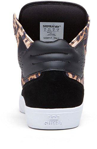 Supra Mens Atoom Hi Sneaker Zwart / Cheetah / Wit