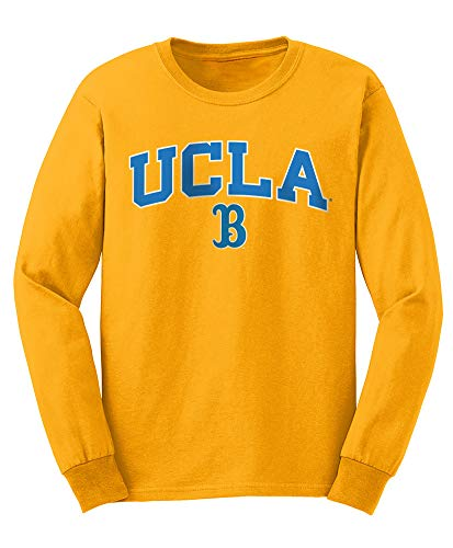 Elite Fan Shop NCAA Men's Ucla Bruins Long Sleeve Shirt Team Color Arch Ucla Bruins Gold Medium ()