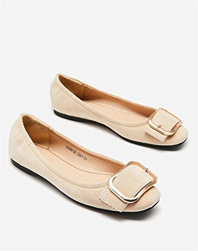 nbsp;Mouth nbsp;Head nbsp;Flat nbsp;Belt nbsp;face nbsp;Women's nbsp;Color nbsp;Shoes Square Spring nbsp;Color nbsp;Buckle nbsp;Velvet nbsp;Shoes nbsp;Apricot nbsp;Flats nbsp;Pure nbsp;Female nbsp;Shallow nbsp;Commuter nbsp;38 Shoes It6t7vqx