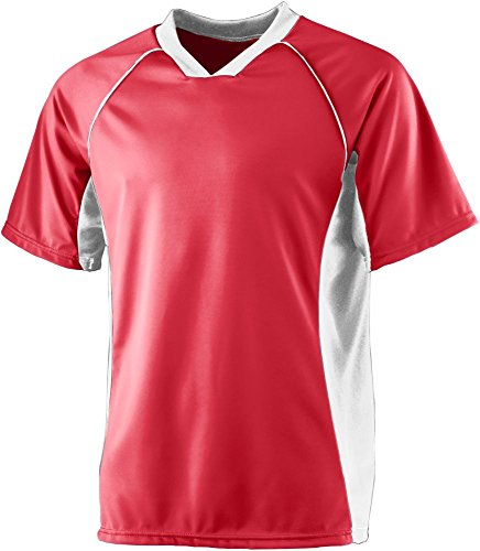 Augusta Sportswear MEN'S WICKING SOCCER SHIRT L Red/White - 2007 Soccer Jersey