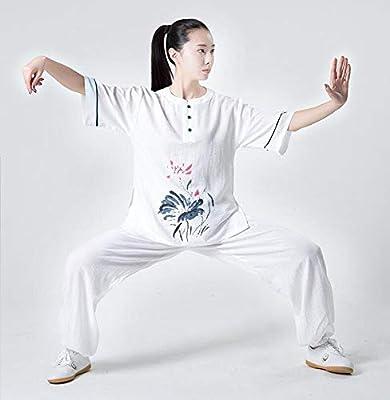 QWER Mujeres Tai Chi Traje Uniforme De Artes Marciales Ropa De ...