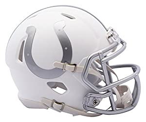 NFL Indianapolis Colts Riddell Ice Alternate Speed Mini Replica, Silver, Small