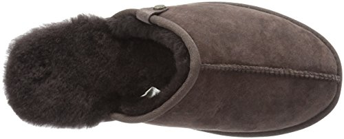 206 Slide Union Shearling Men's Chocolate Slipper Collective Suede 47nxqwF4