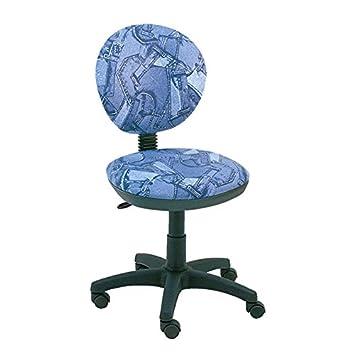 Silla escritorio giratoria diseño tela estampada ropa vaquera ...