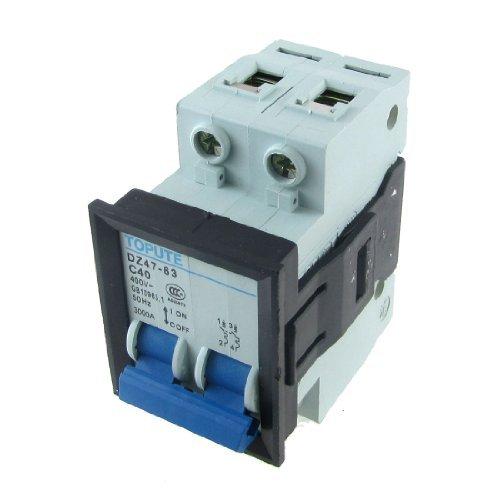 eDealMax AC 400V 40A 2P miniature Mini disjoncteur C40 DZ47-63