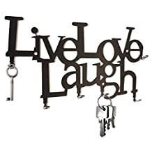 Live Love Laugh - Wall Key Hooks - Holder, Hanger Design