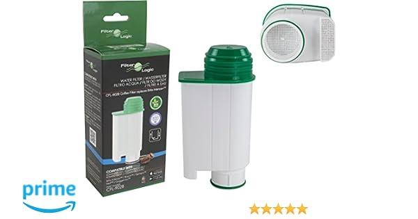 FilterLogic CFL-902B - Filtro de agua reemplaza el cartucho de Saeco nº CA6702/00 - Brita ® Intenza+ para Saeco / Philips / Gaggia cafetera automática ...