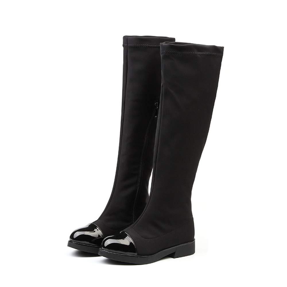 unyielding1 Little Girls New Knee High Flat Riding Boots Shoes High Boots Princess Boots