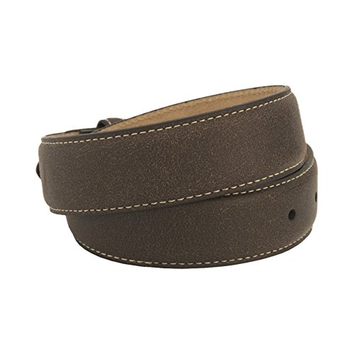 Nocona Girl's Plain Strap Cross Buckle Belt, Brown, 18 by Nocona Boots (Image #1)