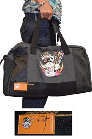 Image Unavailable. Image not available for. Colour  Ed Hardy Death or Glory Duffle  bag ... 8a0f8a41d3185