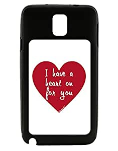 TooLoud I Have a Heart On For You Galaxy Note 3 Case