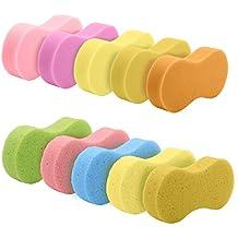 10 Pcs Wash Sponge, 5 Pcs Porous Cleaning Sponges & 5 Pcs High Density Sponges , High Foam Cleaning Washing Sponge Pad for Car, Random Color (Colors May Vary)