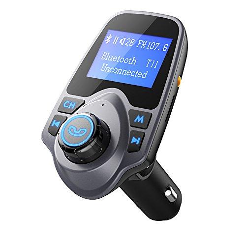 FM Transmitter, PrimAcc Bluetooth FM Transmitter Wireless Bluetooth FM Transmitter Empfänger mit Mikrofon, Freisprecheinrichtung, 2 Auto USB Ladegerät (5V/2,1A Ausgang) und 3,5mm AUX-Eingang TF Karte Slot für PKW, Kfz, iPhone SE/6S/Plus/6, Samsung Galaxy S7/S6/Note 5 und andere ios / Android Smartphones usw.