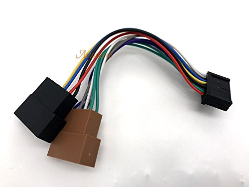 ZWNAV Car Audio ISO Lead Wiring Loom Power Adaptor Wire Radio Connector 15-108 ISO standard HARNESS FOR OEM: AUDIOVOX AEG CLATRONIC FORYOU MYSTERY PROLOGY ELENBERG 20pin ISO Female Wire Harness for Car Stereo CD Player Plug: