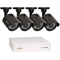 Q-See Surveillance System QTH94-4AG-1 4-Channel HD Analog DVR with 1TB Hard Drive, 4-720p Security Cameras (Black)