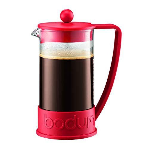 Bodum 10948-294BUS BRAZIL French Press 12 Ounce Red Bodum 3 Cup Coffee