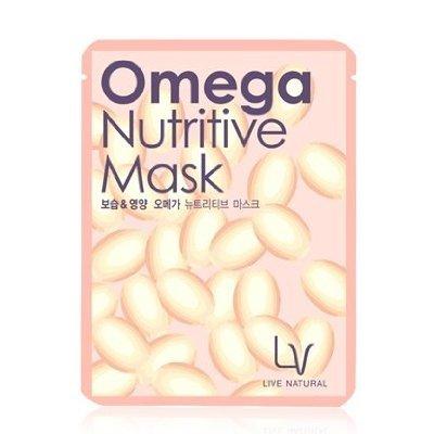 Korean Cosmetics  Lg Household   Health Care  Lacvert  Omega Nutritive Mask 10 Sheets  Elasticity  Moisture  Vitamin
