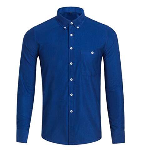 Men's Casual Slim Long Fit TTYLLMAO Sleeve Jacket Corduroy Shirt 6 pHFpanx