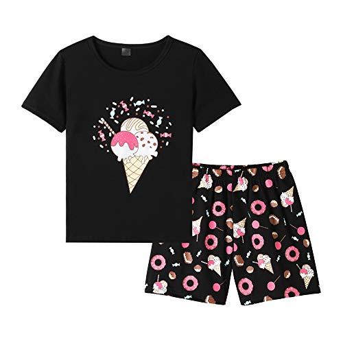 MyFav Girls Cute Banana Summer Pajama 2 Pieces Casual Sleepwear 6-14 Years Child]()