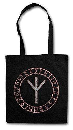 ELHAZ RUNE HIPSTER BAG �?runa Runen Algiz Futhark altnordisch Elch yr eolhx ezec Lebensrune Rune of Life Circle German
