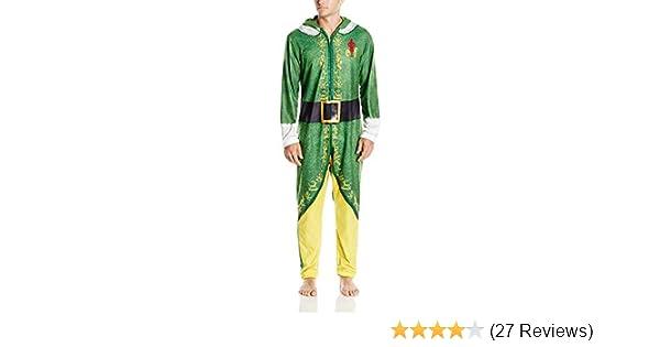 Men/'s Buddy The Elf Medium Hooded Union Suit Costume or Sleepwear Warner Bros