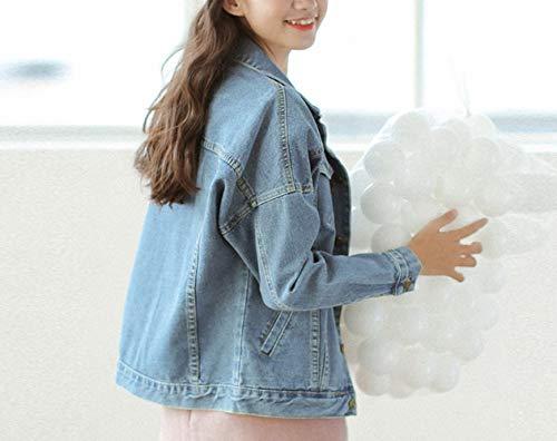 studentessa bf camicia autunno giacca allentata e giacca Denim donna DEED jeans Blu primavera XL fqxv08zw