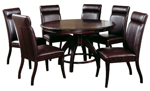 Hillsdale Nottingham Round Counter Height 7-Piece Dining Set, Dark Espresso, Set Includes 1-Table and 6 Stools (Chairs And Table Banquette)
