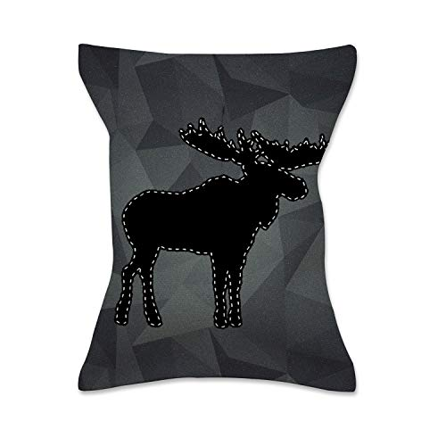- XREE Car Tissue Box Home Tissue Holder Canvas Cloth Art Container for Paper Tissue Packs - Moose