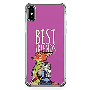 Loud Universe Zootopia Friends iPhone XS Max Case Fox and Rabbit Nick and LT judy iPhone XS Max Cover with Transparent Edges