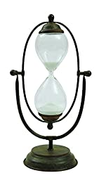 Creative Co-Op Metal and Glass Thirty Minute Timer